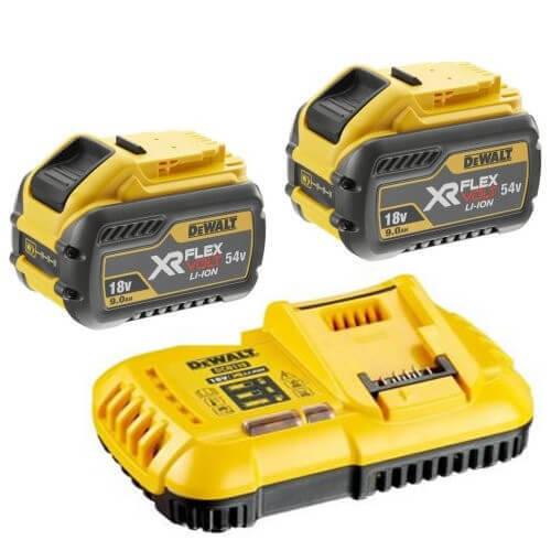 Зарядное устройство и 2 аккумулятора XR FLEXVOLT DCB547 9Ач DeWALT DCB118X2