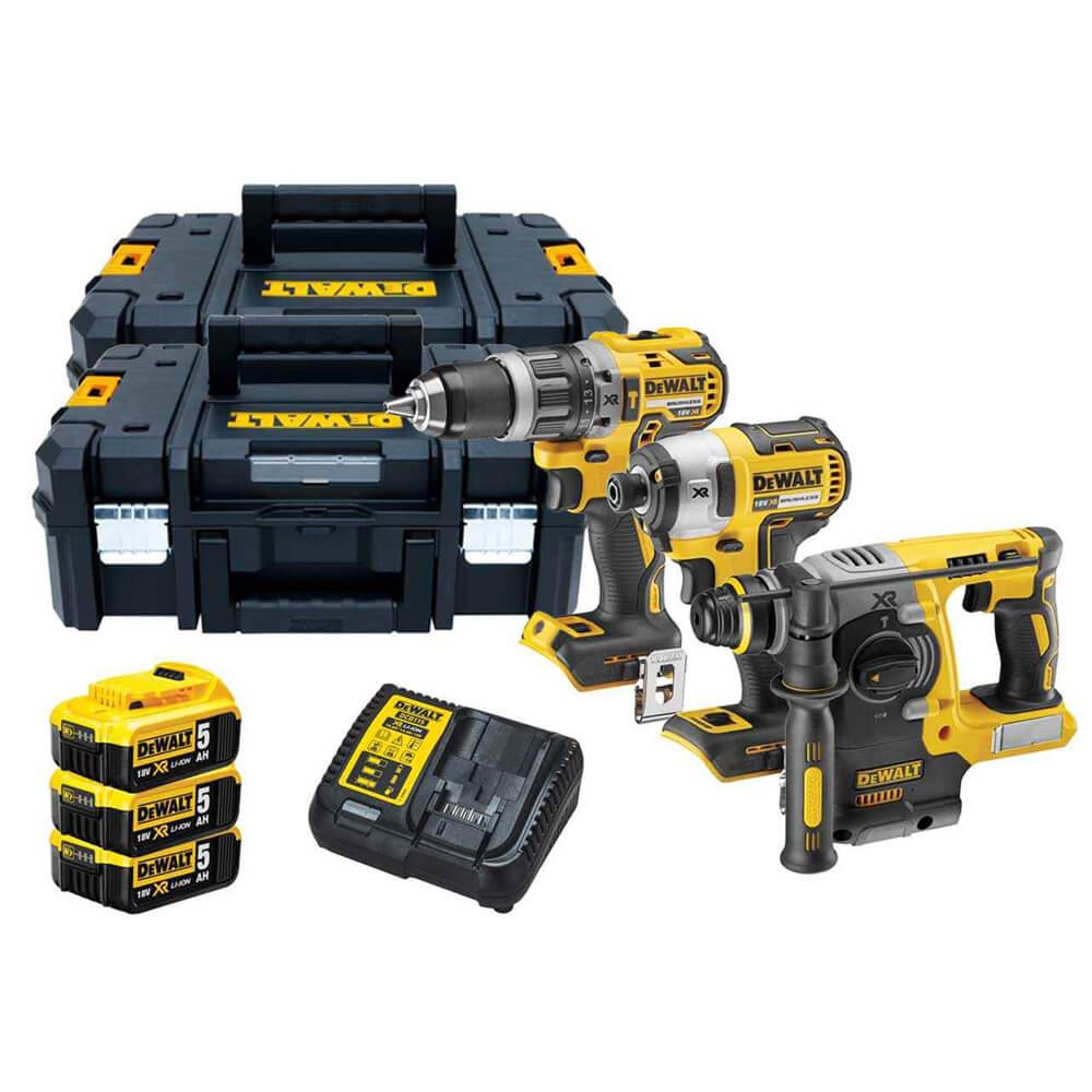 Набор из трех инструментов аккумуляторных бесщеточных DeWALT DCK368P3T
