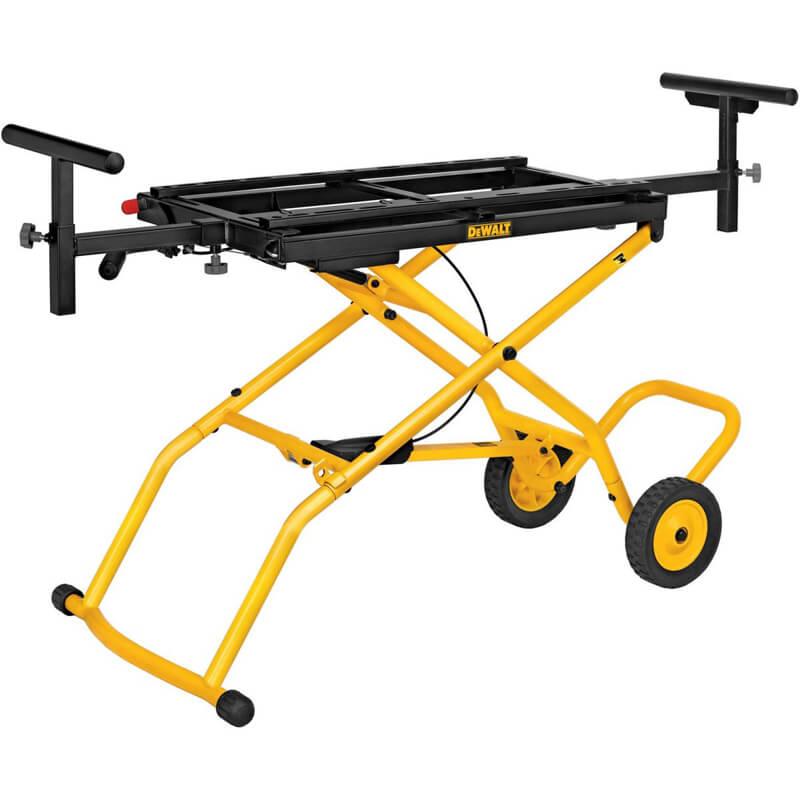 Стенд на колесах для распиловочных станков упоры для заготовок до 2.4 м 3 позиции высоты до 135 кг DeWALT DE7260