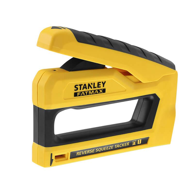 Степлер FatMax под скобы типа G длиной 6-14 мм и гвозди типа J длиной 12; 15 мм. STANLEY FMHT0-80551