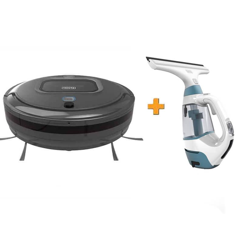 Робот-пылесос + подарок пылесос для мытья окон BLACK+DECKER RVA425B+WW100