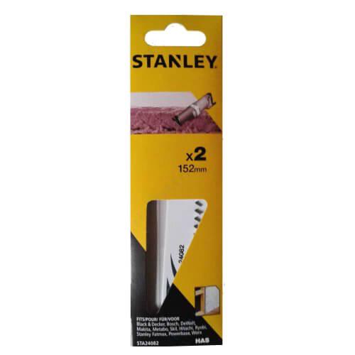 Полотно сабельное HAS по газобетонным блокам и легкому бетону длиной 152 мм 2 штуки STANLEY STA24082