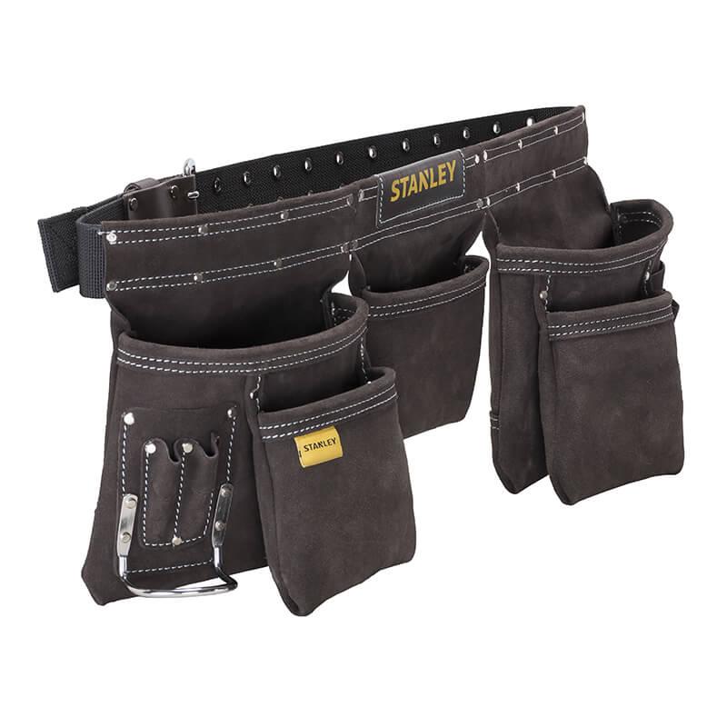 Пояс двойной для ношения инструментов с кожаным ремнем на охватом талии от 84 до 133 см. STANLEY STST1-80113